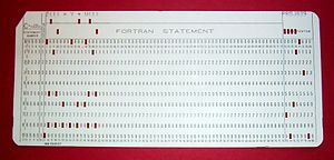 punch card from my past