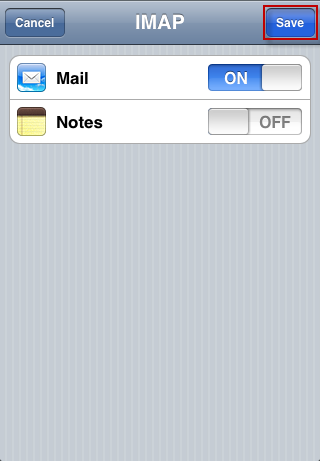 iPhone - mail synchronization