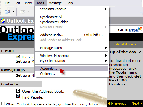 Set up Email in Outlook Express -WebHostingBuzz Wiki