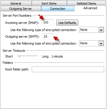 Outlook 2010 - outgoing mail settings
